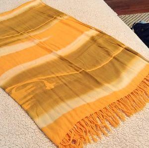 Accessories - Yellow Olive Green Large Bali Sarong Wrap Shawl